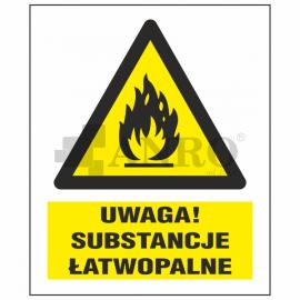 Uwaga! Substancje łatwopalne 220x300