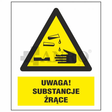 Uwaga! Substancje żrące 220x300
