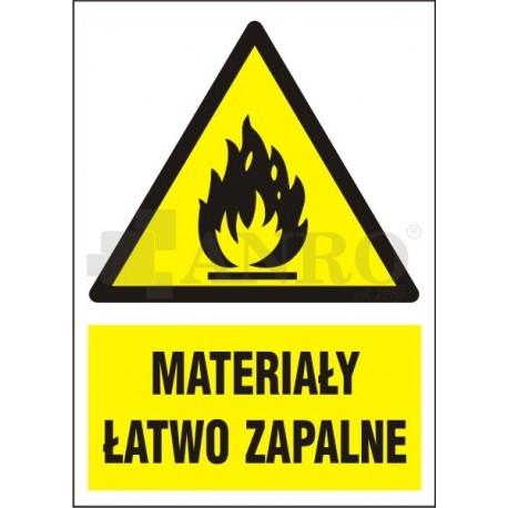 Materiały łatwo zapalne 220x300