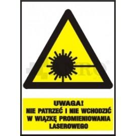 Uwaga! Nie patrzeć i nie wchodzić w wiązkę promieniowania laserowego 220x300