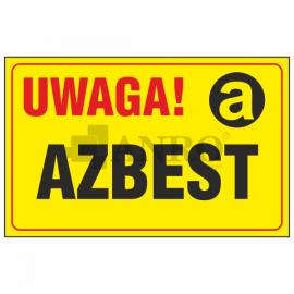Uwaga! Azbest 250x350