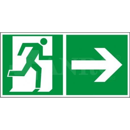 Kierunek do wyjścia w prawo i prosto (za drzwiami) 150x300