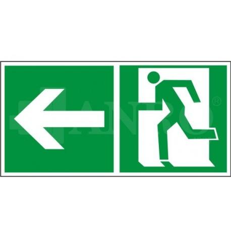 Kierunek do wyjścia w lewo i prosto (za drzwiami) 150x300