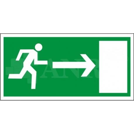 Kierunek do wyjścia drogi ewakuacyjnej prawy 150x300
