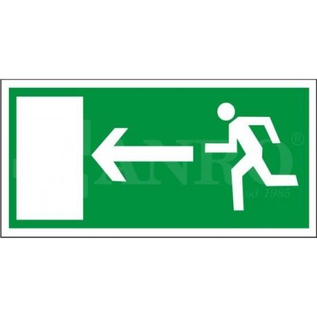 Kierunek do wyjścia drogi ewakuacyjnej lewy 150x300
