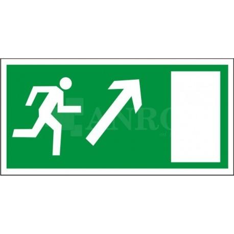 Kierunek do wyjścia drogi ewakuacyjnej w górę w prawo 150x300