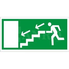 Kierunek do wyjścia drogi ewakuacyjnej schodami 150x300