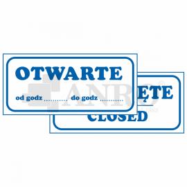 Otwarte Zamknięte 90x240