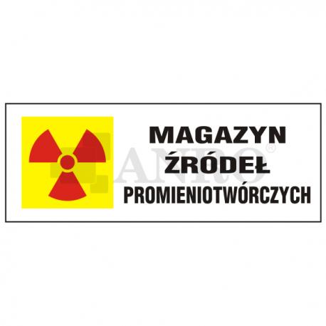 Magazyn źródeł promieniotwórczych 100x250