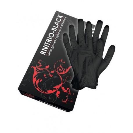 Rękawice nitrylowe RNITRIO-BLACK 100 szt.