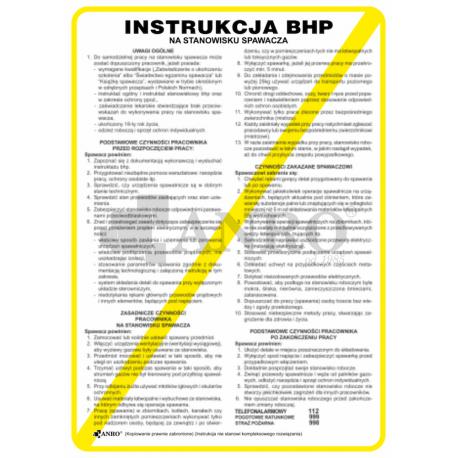Instrukcja BHP na stanowisku spawacza