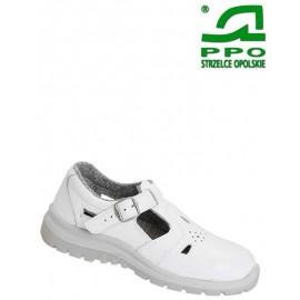 Sandały bezpieczne z metalowym podnoskiem białe wz. 251B