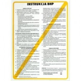 Instrukcja BHP przy obsłudze wiertarki poziomej