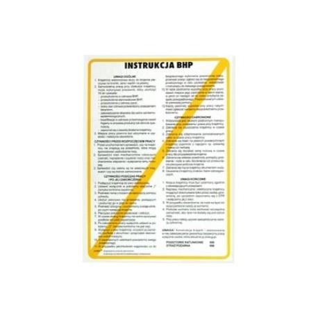 Instrukcja BHP dla obsługi ręcznej szlifierki
