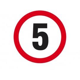 Ograniczenie prędkości do 5 km/h 330x330