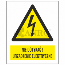 Nie dotykać! Urządzenie elektryczne 74x105