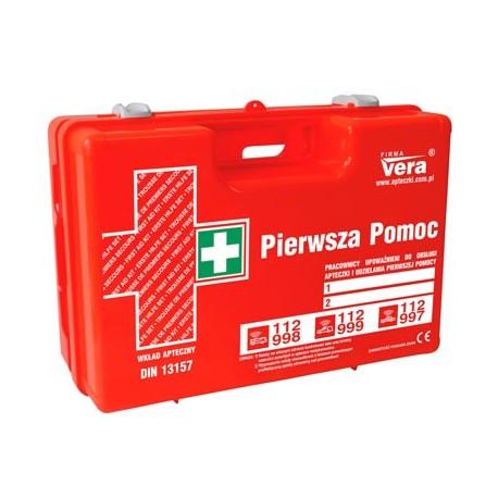 Przemysłowa apteczka pierwszej pomocy TOP 15 PLUS 13157 w walizce z tworzywa ABS