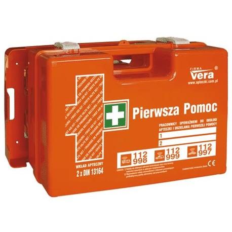 Przemysłowa apteczka pierwszej pomocy TOP 18 PLUS 2x 13164 w walizce z tworzywa ABS