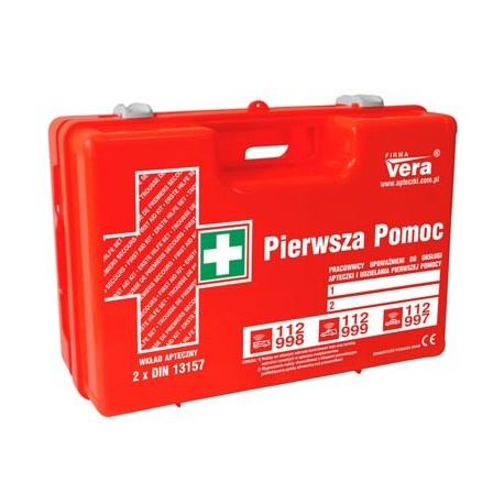 Przemysłowa apteczka pierwszej pomocy TOP 20 PLUS 2x 13157 w walizce z tworzywa ABS