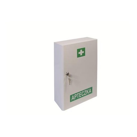 Przemysłowa apteczka pierwszej pomocy VERA2 13157 PLUS w szafce metalowej