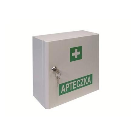 Przemysłowa apteczka pierwszej pomocy VERA4 B-INTER w szafce metalowej