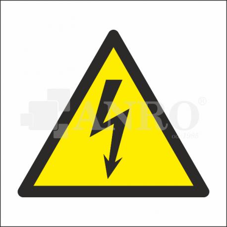 Ostrzeżenie przed napięciem elektrycznym 100x100