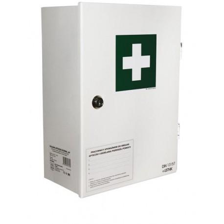 Przemysłowa apteczka pierwszej pomocy AS30 13157 w szafce metalowej
