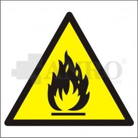 Niebezpieczeństwo pożaru materiały łatwo zapalne 200x200