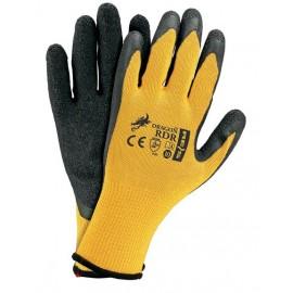 Rękawice ochronne powlekane RDR żółto-czarne