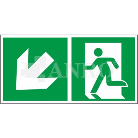 Kierunek do wyjścia w lewo i w dół 150x300