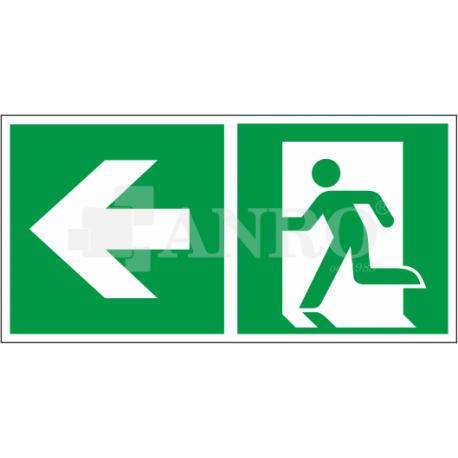 Kierunek do wyjścia w lewo i prosto 150x300