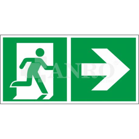 Kierunek do wyjścia w prawo i prosto 150x300