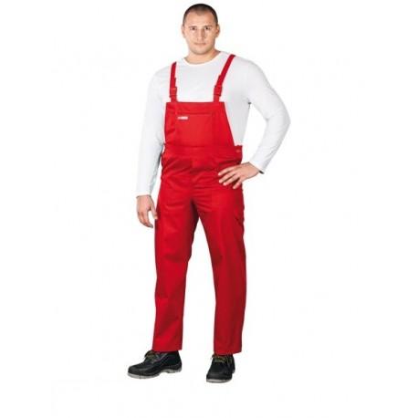 Spodnie ochronne ogrodniczki Master czerwone