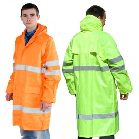 Kurtka ochronna przeciwdeszczowa SATURN pomarańczowa [P]