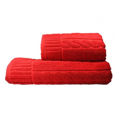 Ręcznik Skandynawia 70x140 czerwony