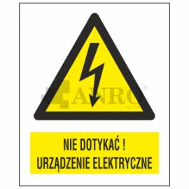 Nie dotykać! Urządzenie elektryczne 148x105