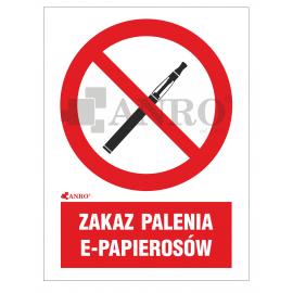 Zakaz palenia e-papierosów 200x300