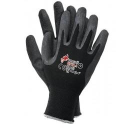 Rękawice nylonowo-latexowe RNYLA czarne 12par