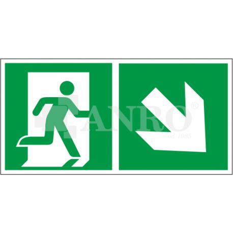Kierunek do wyjścia w prawo i w dół 150x300