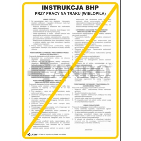 Instrukcja BHP przy pracy na traku