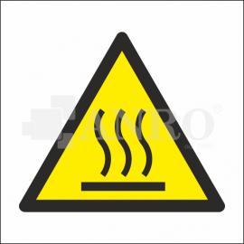 Ostrzeżenie przed gorącą powierzchnią 100x100