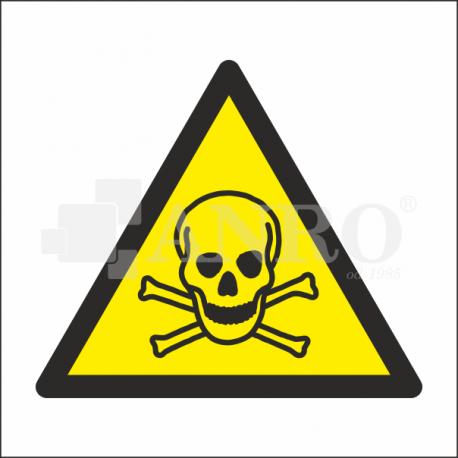 Ostrzeżenie przed materiałami toksycznymi 100x100