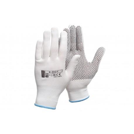 Rękawice poliestrowe z nakropieniem X-DOT - 12par