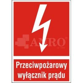 Przeciwpożarowy wyłącznik prądu 135x100
