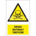 Uwaga ! Materiały toksyczne 200x300