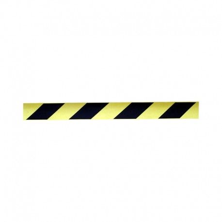 Taśma samoprzylepna odblaskowa żółto-czarna 5cm