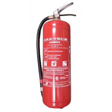 Gaśnica proszkowa GAZTECH GP-6 X ABC ES do 245 kV