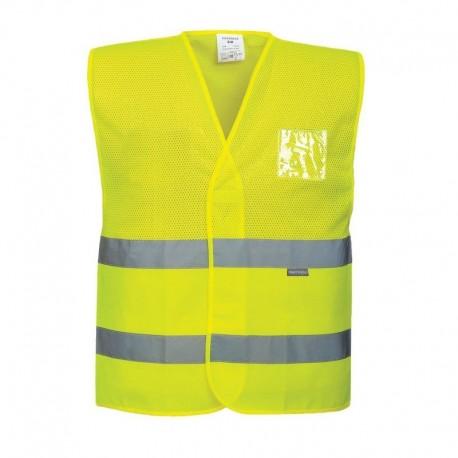 Kamizelka ostrzegawcza siatkowa żółta PORTWEST C494