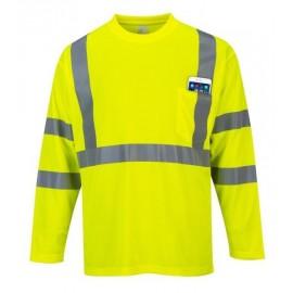 Koszulka ostrzegawcza z długim rękawem PORTWEST S191 żółta