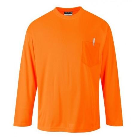 Koszulka z długim rękawem PORTWEST S579 Day-Vis pomarańczowa